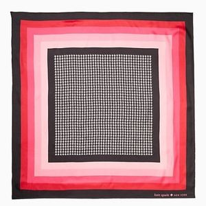 NWT Kate Spade Houndstooth & Ombre Scarf